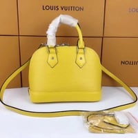 Louis Vuitton Lv Epi Leather Alma Handbag Inclined Shoulder Bag #8941 - Best Deal Online