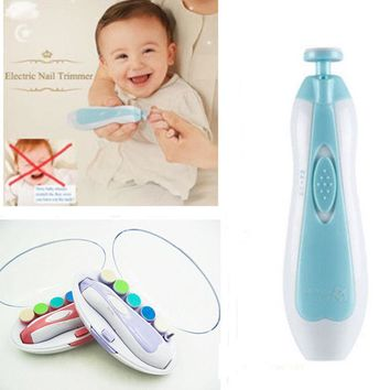 2018 Baby 3Colors Automatic Electric Nail Trimmer (Pain Free) Portable Versatile Toddler Nail Care Clippers Free Shipping