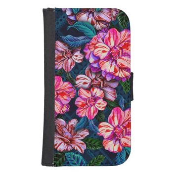 Romantic Rustic Watercolor Flowers Phone Wallet Cases