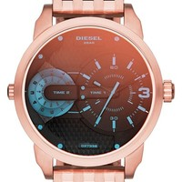 Men's DIESEL 'Mini Daddy' Multimovement Bracelet Watch, 46mm - Rose Gold