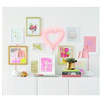 Heart LED Neon Amber Light - Oh Joy!