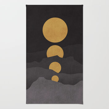 Rise of the golden moon Rug by Budi Satria Kwan