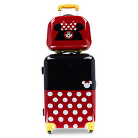 Disney Parks Minnie Mouse Stacked Rolling Luggage And Travel Case 26'' New