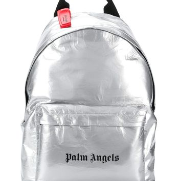 Silver Metallic Classic Backpack by Palm Angels