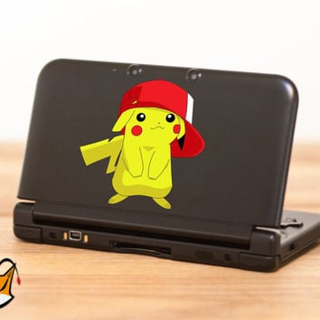 Pikachu Pokemon decal sticker for Nintendo 3DS XL, 3DS, MacBook and all other devices! ma098