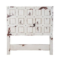 Wood Gate Headboard White