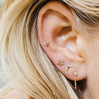 Heart Star Moon Ear Stud (3 Piece Set)