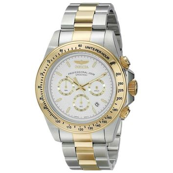 Invicta 18392 Men's Speedway White Dial Two Tone Steel Chronograph Dive Watch