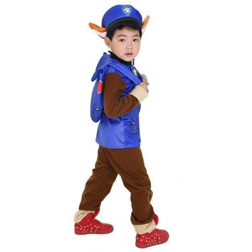 Cool 2018 New Kids Carnival Clothing Children Patrol dogs Marshall Chase Skye Cosplay Costume Boy Girl Halloween Party Role Play upAT_93_12