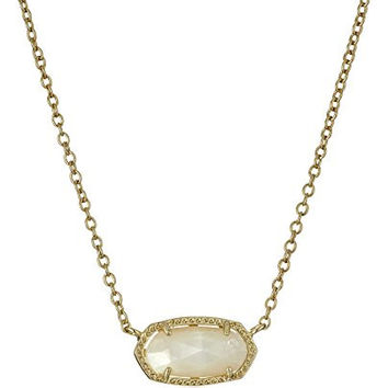 """Kendra Scott """"Signature"""" Elisa Gold Ivory Mother-Of-Pearl Pendant Necklace"""