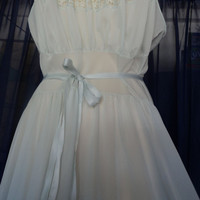 VTG 60s Van Raalte MYTH Soft Blue Nylon Nightgown 38 by calig0dess
