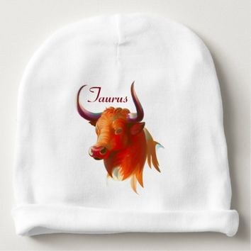 Zodiac Taurus Sign Baby Cotton Beanie