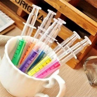10pcs Cute Stationery Needle Tube Syringe Highlighter Marker Nite Writer Pen = 1714488260