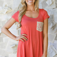 Lisa Lace Pocket Tunic