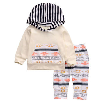 Autumn Winter Newborn Infant Baby Girl Tops Hoodie+Floral Pants 2PCS Outfits Clothes Set Baby Clothing 0-24M