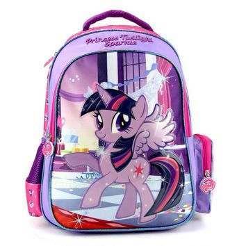 2017 new children cartoon my little pony schoolbag girl lovely backpack schoolbag For children children Christmas gift bags0015