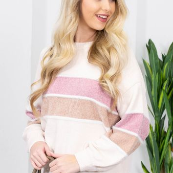 Tabitha Sweet Block Print Sweater