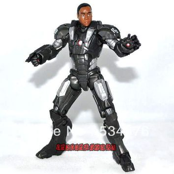 """Marvel Universe Comic Super Hero 3.75"""" The Avengers Iron Man Movie War Machine Rhodes Unmasked Loose Action Figure Toy Doll"""
