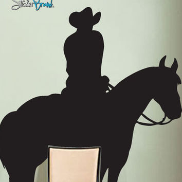 Vinyl Wall Decal Sticker Cowboy Horse #200