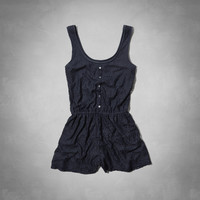 all-over lace romper