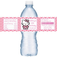 Hello Kitty Birthday Water Labels