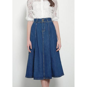 Repetto Denim Midi Skirt