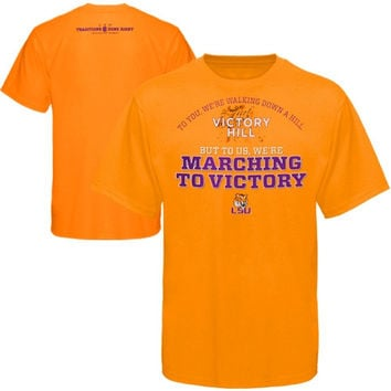 LSU Tigers SEC on ESPN Done Right T-Shirt - Gold