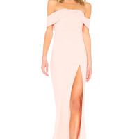 NBD Mas Besos Gown in Baby Pink