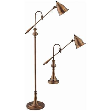 Stein World Metals 2 Piece Pharmacy Desk and Floor Lamp Set | www.hayneedle.com