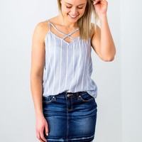 Spring Possibilities Tank - Chambray