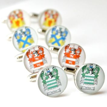 Custom Family Crest Cufflinks