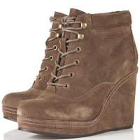 ANDREAS Wedge Lace Up Boots