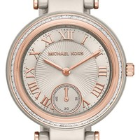 Women's MICHAEL Michael Kors 'Mini Skylar' Bracelet Watch, 33mm - Grey/ Rose Gold