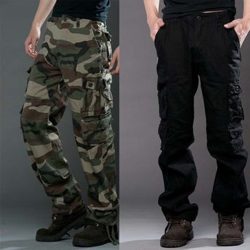 Pants Camouflage Cotton Outdoors Black Bags [6581611271]