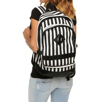 Sale-striped Canvas Backpack