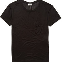 Saint Laurent - Chest Pocket Silk-Jersey T-Shirt | MR PORTER