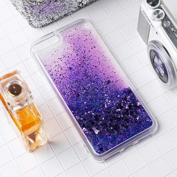 Pretty Dynamic Glitter Quicksand Liquid Soft Case For iPhone 5s 6 6s 7 8 Plus X