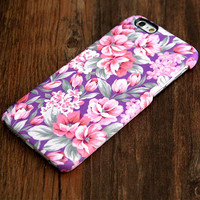 Violet Pink Floral Pattern iPhone 6 Plus/6/5S/5C/5/4S/4 Protective Case #417