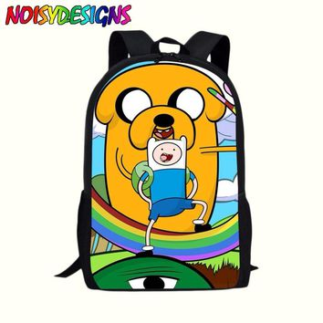 16Inch Adventure Time Finn and Jake Kids Backpack Boys Girls School Bags Daily Children Bookbag Shoulder Backpacks Mochila Bolsa