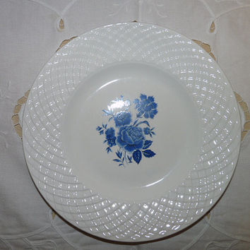 Wedgewood Blue and White Plates x 2 Blue Rose Ironstone Pattern, Tunstall Ltd English collestable, china, tableware