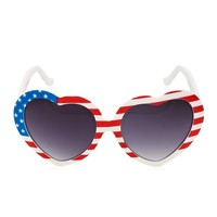 I Heart America Sunglasses - Red, White, and Blue