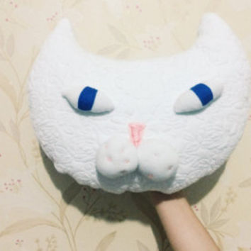 Organic Soft Cat Head Cushion Pillow