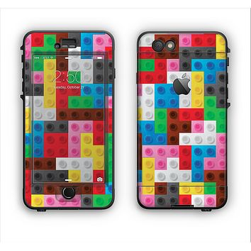 The Neon Colored Building Blocks Apple iPhone 6 Plus LifeProof Nuud Case Skin Set