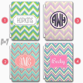 Chevron Personalized Ipad Air Smart Cover Monogram 4 Customized Iphone 6 Case
