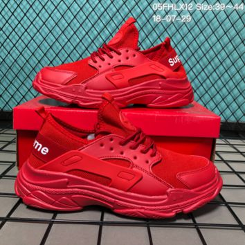 DCCK B018 Balenciaga x Supreme x Huarache Casual Running Shoes Red