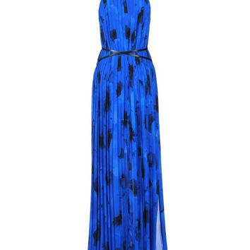 MICHAEL KORS COLLECTION Pleated print gown
