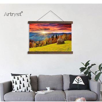 Forest  Scroll  Creative  Canvas  Painting