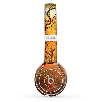The Fall Back Road Skin Set for the Beats by Dre Solo 2 Wireless Headphones