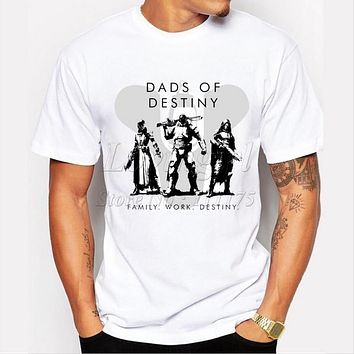 Dads Of Destiny Design Men S T-shirt 2017 Funny Tee Shirts Hipster O-neck Cool Tops - Beauty Ticks