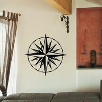 Wall Decal Vinyl Sticker Wind Rose Compass Travel Geography Decor Sb411